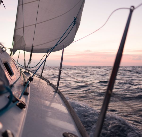 Sailing in Italy - Sunset