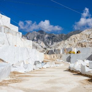 Carrara's marble quarry landscape in Italy