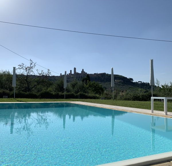 Via Francigena - San Gimignano, view from the pool
