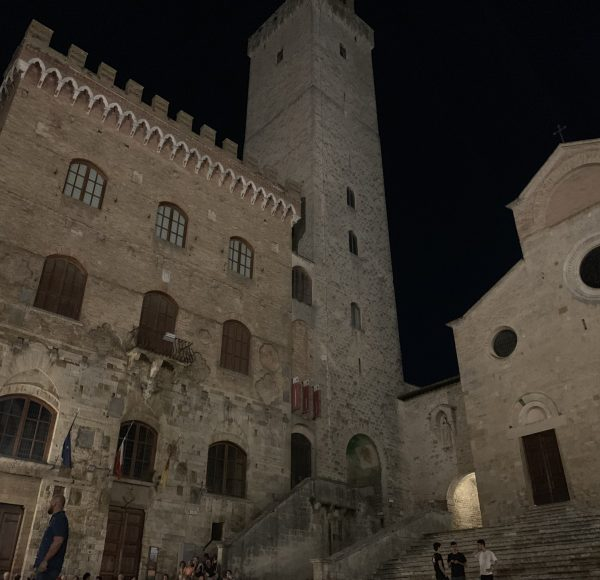 Via Francigena - San Gimignano at night