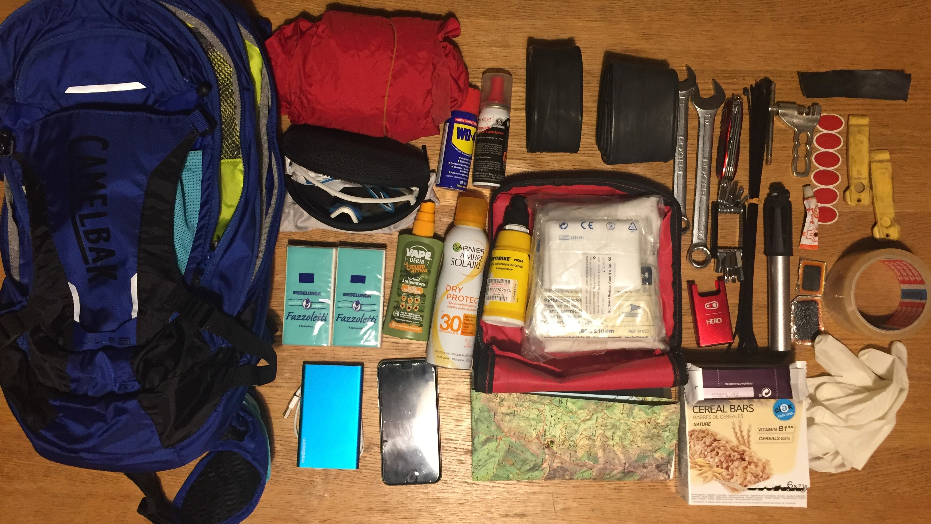 Bike tour - My backpack