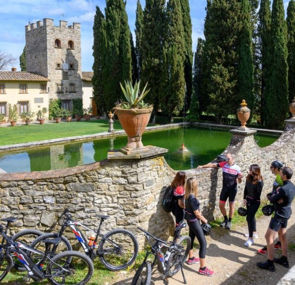 A view of Verrazzano Castle - by bike