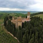 Badia a Passignano - view from drone