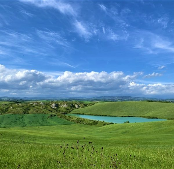 Crete Senesi - Landscape with lake