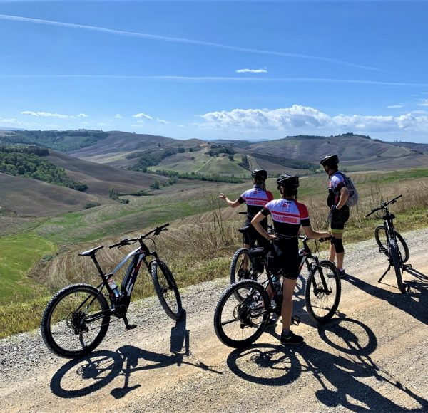 Biking in Tuscany, stunning view
